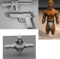 Old Ass 3D Models by xstortionist