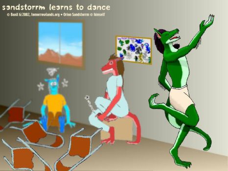 Sandstorrm Learns To Dance by baxil