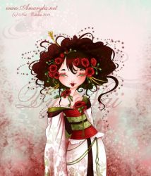 Geisha Coquelicot by Nailyce