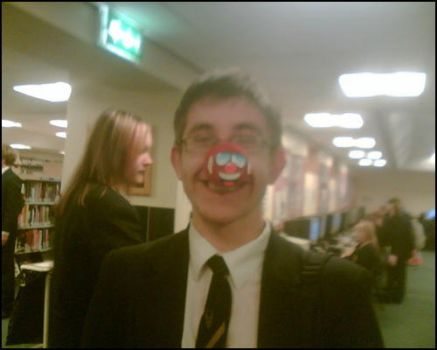 me with red nose at school by AaronHolden16