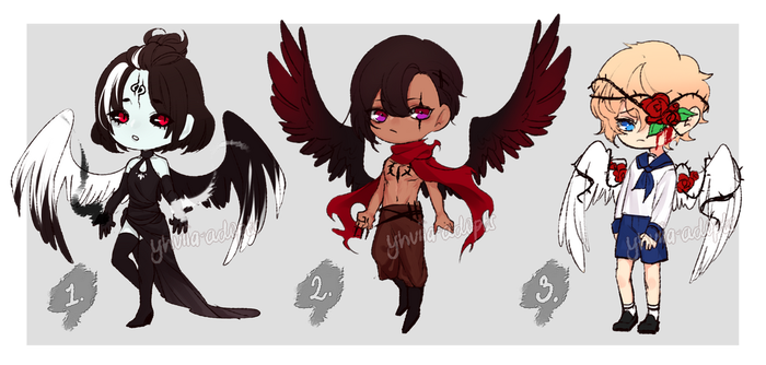 Corrupted Angel ADOPTS [CLOSED] by yhviia-adopts