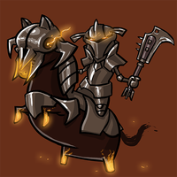 Dota Fanart v2 - Chaos Knight by KidneyShake