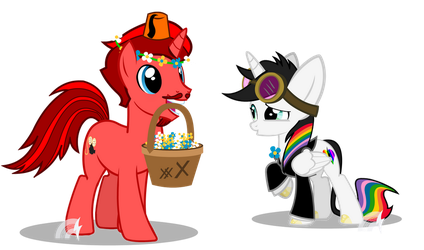 The Flower Pony and Best Mare Vector Commission by Lightning-Bliss