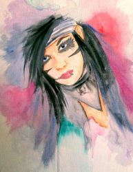 Andy Biersack Abstract Watercolor by mokaart