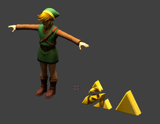 Link and Triforce by CheifWahooMcDaniel