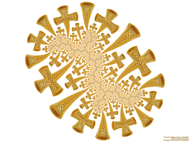 Fractal Golden Crosses, Dendrite by bryceguy72