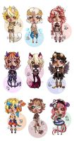 MiniChibis-02 :CLOSED: by mostlyniceAdopts