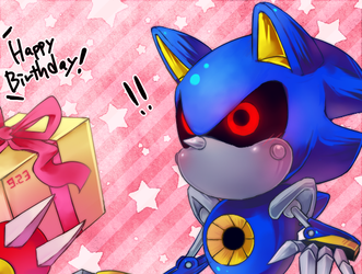 Metal Sonic Is The 18 Anniversary by kzmn