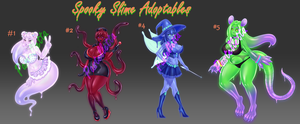 Spooky Slime Adopts CLOSED by PastellettaArt