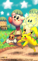 Kirby and Pokemon by Rafeal
