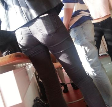 Brown Jeans Butt 2 by SxyButBits
