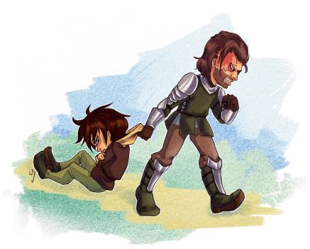 Arya and Clegane by Sherharon