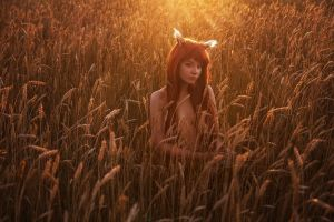 loneliness in wheat by sauronushka