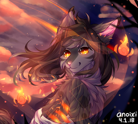 Flaming Eclipse by Anoixi