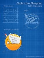 Blueprint Circle Icons by raditeputut