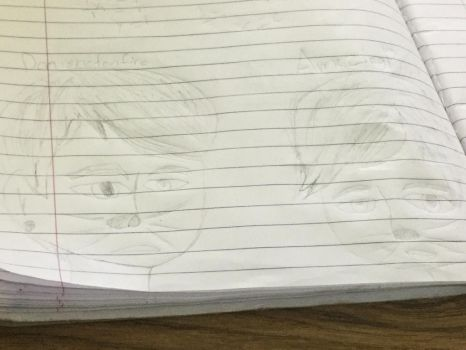 Just a sketch in my math notebook by Animehreats