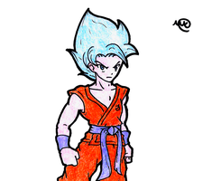 Dragon Ball - SSJB Son Goku by MaruanKaled