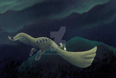 Lugia in the storm by yoshitaka