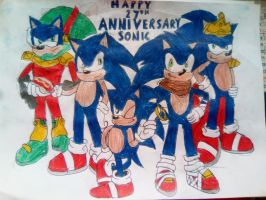 Happy 27th Anniversary Sonic! by TheOneAndOnlyCactus