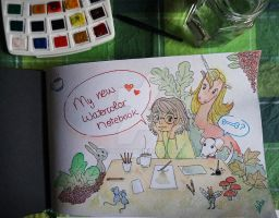 My new watercolor notebook by m-roa