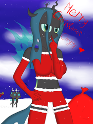 Queen Chrysalis Anhtro Christmas by riky9797