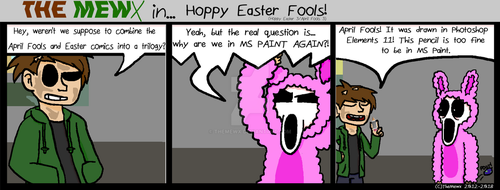 TheMewx Comic #49 'Hoppy Easter Fools!' by TheMewx