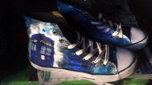 Tardis DIY shoes pt.1 by LadyFabcurly