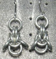 Chainmaille Earring 73 by Des804