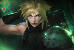 Cloud FFVII speedpaint by medders