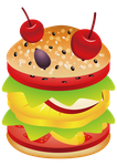 Fruit Burger by TReeCreationCulture