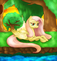 fluttershy by thepipefox