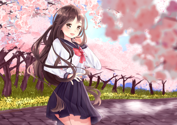 Spring Forever [COMMISSION] by rinachin