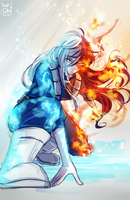 Shoto Todoroki Female Version by Bellchaan