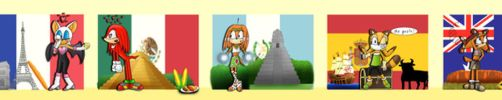 Sonic characters in their countries by ChiptheHedgehog