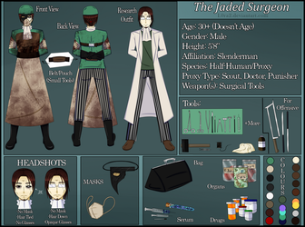[SV/Horror]The Jaded Surgeon Reference Sheet by L0ra2