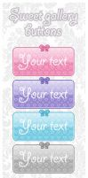 Sweet Gallery Buttons (7 colors) by Sayuki-Art