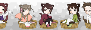 Hetalia Kitties 6 by pinkkittypower