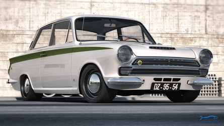 1966 Lotus Cortina 4 by RJamp