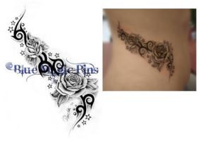 Fantasy tribal with roses by anchica