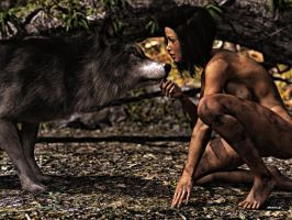 The Children And The Wolf by phdemons