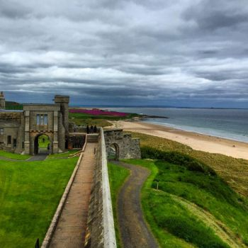 Bamburgh Castle beach by day-seriani