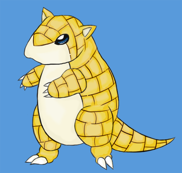 027 - Sandshrew by Kefanii