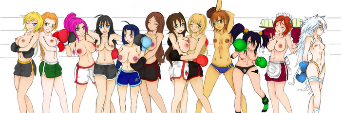 Topless Boxing Girls ~ The Lineup! by YuukiMMD