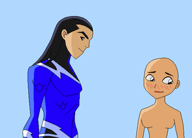 Aqualad and OC base by Raygirlbases
