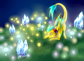 Playing with fireflies by Anfani