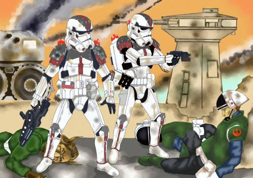 Airborne troopers by AlexiosI