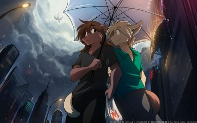 Umbrella For Two by Twokinds