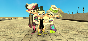 GMOD - Michael (Rage Quid) meets the Squid Sisters by thebestmlTBM