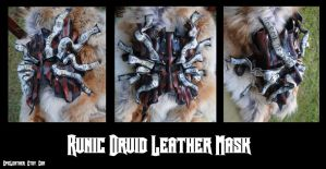 Runic Druid Leather Mask by Epic-Leather