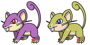 Pokemon #019 - Rattata by Fyreglyphs